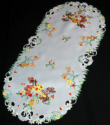 Amazing Embroidered Easter Large Tablecloth Doily  Table runners 60x120 cm Oval