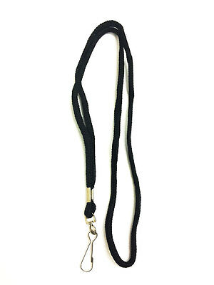 Black Round Lanyard With Swivel Hook - Pack of 10