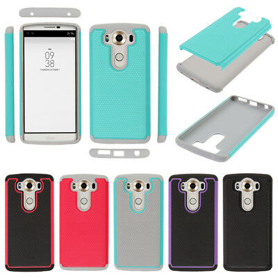 For LG V10 H900 VS990 H961N Hybrid Bumper Shock Absorbent TPU Hard Case Cover