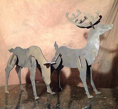 Reindeer Silhouette Christmas Mantelpiece Made In Alabama ;)