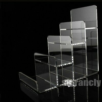 Clear 4 Layer  Acrylic  CD DVD  Wallet  Retail Display Rack Holder Organizer