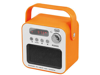 Radio portatile con Mp3 e Bluetooth Trevi DR 750 BT POKER Arancio