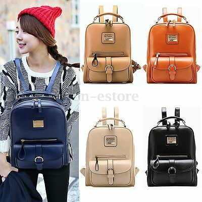 Fashion Women Leather Backpack School Bag Travel Rucksack Shoulder Bag Satchel