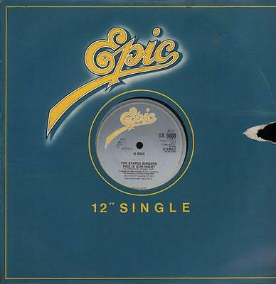 """The Staple Singers(12"""" Vinyl)This Is our Night-Epic-TA 5008-UK-1984-VG/VG"""