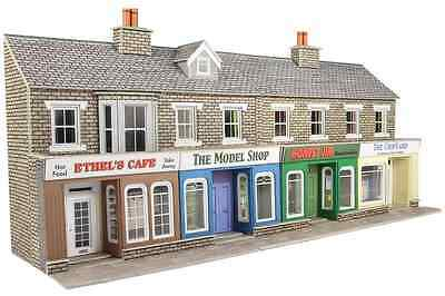 Metcalfe PO273 Low Relief Terr Shop Fronts Stone OO/HO Gauge Card Kit