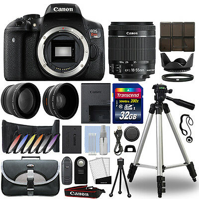 Canon T6i / 750D DSLR Camera + 18-55mm IS STM 3 Lens Kit + 32GB Best Value Kit