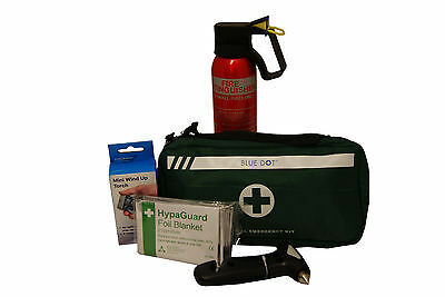 Car Winter Safety Kit:Fire Extinguisher,First Aid Kit,Life Hammer,Wind Up Torch