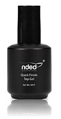 TOP COAT BRILLO FINAL UÑAS DE GEL UV 15 ml NDED SECADO EN LAMPARA UV-LED
