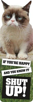 Grumpy Cat Bookmark Cut Out If You're Happy & You Know It Shut Up! New