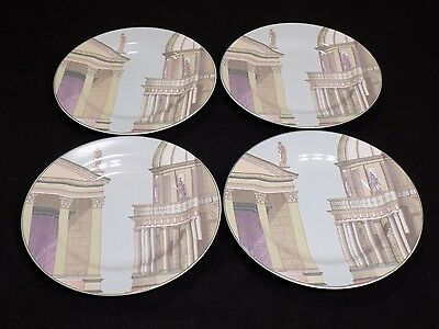 """Set of 4 Hard to Find FITZ and FLOYD OMNIBUS NEO CLASSIC 7.75"""" Salad Plates"""