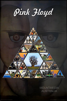 (LAMINATED) PINK FLOYD - PRISM ALBUM COLLAGE POSTER (91x61cm)  NEW LICENSED ART