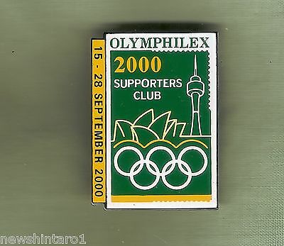 #d142.  Olymhilex 2000 Stamp Supporters Club   Lapel   Badge