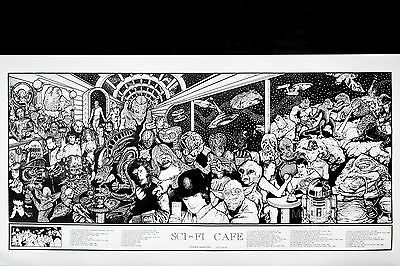 Sci-Fi Movie Café - Howard Teman Poster (48X90Cm) New Licensed Art