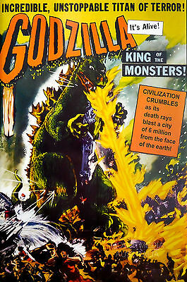 (LAMINATED) GODZILLA - KING OF MONSTERS RETRO POSTER (91x61cm)  NEW LICENSED ART