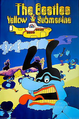 BEATLES - BLUE MEANIE YELLOW SUBMARINE POSTER (91x61cm)  NEW LICENSED ART