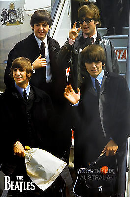 (LAMINATED) The Beatles - Plane - Group POSTER (61x91cm) New Licensed Art