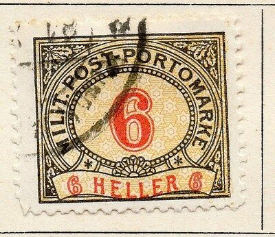 Bosnia Herzegovina 1904 Postage Due Early Issue Fine Used 6h. 045059