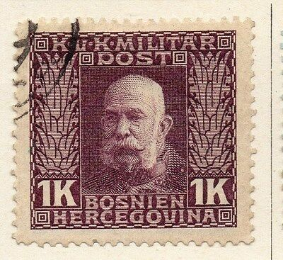 Bosnia Herzegovina 1912 F Joseph Early Issue Fine Used 1K. 045099