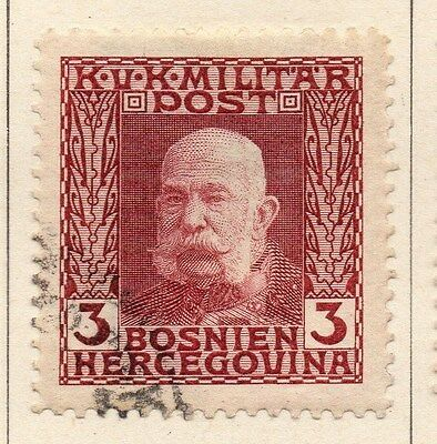 Bosnia Herzegovina 1912 F Joseph Early Issue Fine Used 3h. 045085