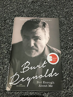 Rare Hand Signed Book Burt Reynolds Autograph Coa New But Enough About Me