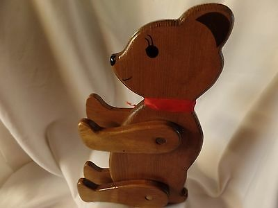 """Wooden Bear With Movable Arms & Legs 15"""" standing"""