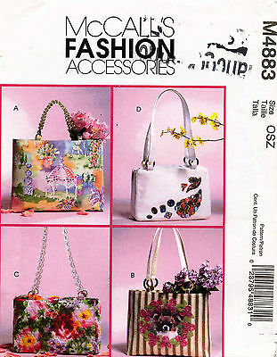 McCall's Handbags and Totes Pattern M4883