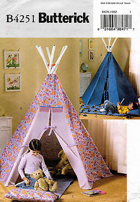 Butterick Tepee and Mat Pattern B4251 UNCUT