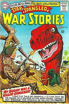 Silver Age 1966 Star Spangled War Stories #124 Dc Comics/soldiers & Dinosaurs!!