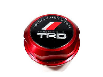 New Red TRD Racing Oil Filler Cap Fuel Tank Cover Aluminum For Most Toyota Cars