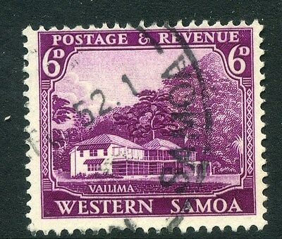 SAMOA;  1935 early pictorial issue fine used 6d. value