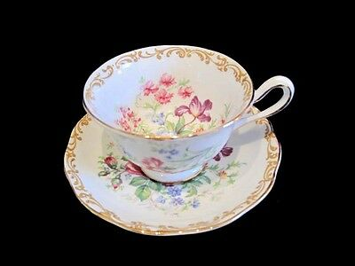 Royal Albert Bone China NOSEGAY Footed Cup and Saucer