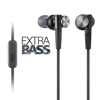 GENUINE Sony MDR-XB50AP EXTRA BASS Headphones with MIC UK Stock BLACK