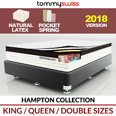 TOMMY SWISS LUXURY MATTRESS King Queen & Double Pocket Spring Natural Latex 29cm