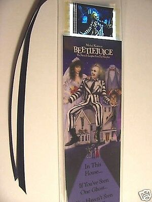 BEETLEJUICE  Lot Set of 3 Movie Film Cell Bookmarks Cinema Collectibles Gift