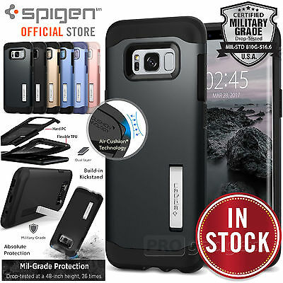 Galaxy S8 Plus/S8/S7/ S7 Edge Case, Genuine SPIGEN Slim Armor Cover for Samsung