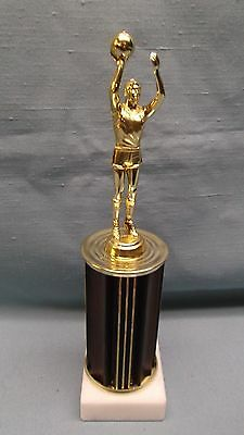 basketball trophy male brown column marble base