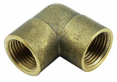 "Brass Elbow Fitting - 1/2"" Female x 1/2"" Female BSP 1000PSI"