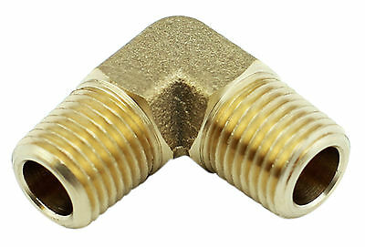 "Brass Elbow Fitting -  1/4"" Male x 1/4"" Male BSP - 1000PSI"