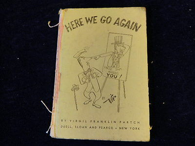 HERE WE GO AGAIN Military Draft Boot Camp Vtg Cartoon Book V F PARTCH 1951 A78