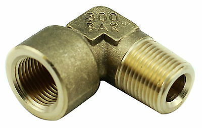 "Brass Elbow Fitting 3/8"" Female x 3/8"" Male BSP - 4350PSI,Tapered High Pressure"
