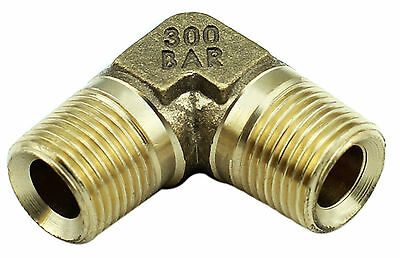 "Brass Elbow Fitting – 3/8"" Male x 3/8"" Male BSP - 4350PSI, Tapered High Pressure"