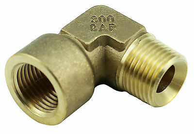 "Brass Elbow Fitting - 1/2"" Female x 1/2"" Male BSP 4350PSI, Tapered (Box of 5)"