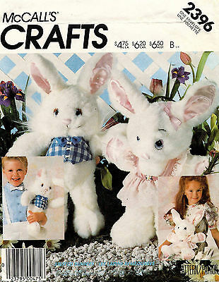 1980's VTG McCall's Soft Bunny Package Pattern 2396  UNCUT