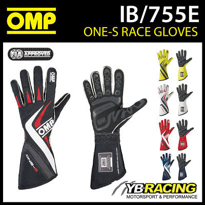 IB/755E OMP ONE-S GLOVES FIREPROOF for RACE RALLY MOTORSPORT FIA APPROVED
