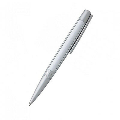 S.T. Dupont Defi Ball Point Pen, White With  Brushed Chrome, 405714 New In Box