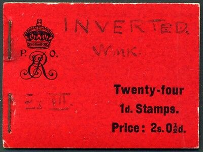 1904 KEVII De La Rue 2s.0½d Red Booklet SG BA1 - The First Issued GB Booklet