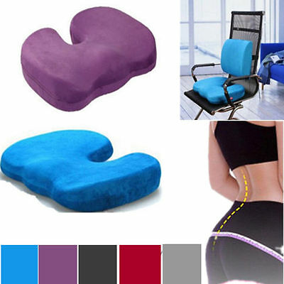 Orthopedic Memory Foam Seat Cushion Bolster Chair Solution Coccyx Pain Hot UK BY