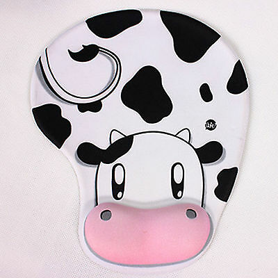 Cute Anti-Slip Mouse Pad/Mouse Mat with Gel Wrist Support for PC Macbook Laptop