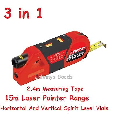 Laser Level And Measure 3 In 1 Spirit Level Laser Pointer Tape Measure Dekton