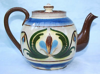Vintage Torquay Devon Mottoware Pottery Teapot  Wull'ee ave a cup to cheer'ee up